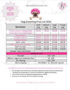dog price list