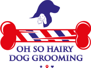 hairy dog grooming logo