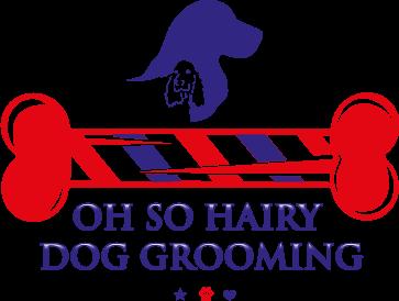 hairy dog grooming logo