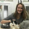 Lady with cat after grooming, Absolutely Animals